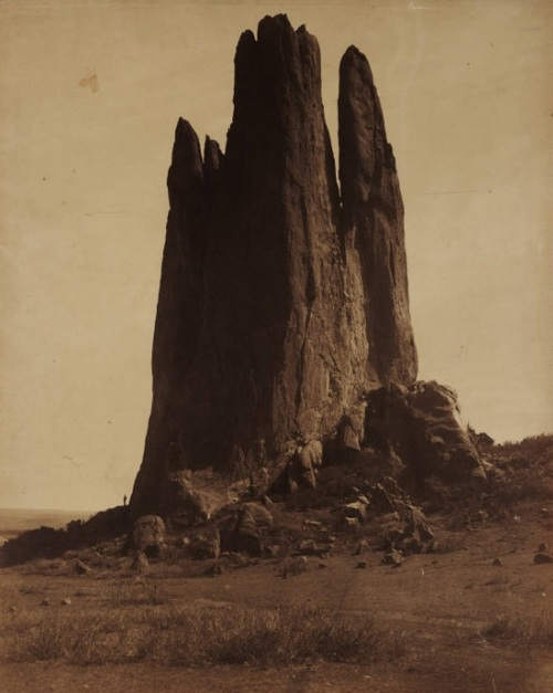 William Henry Jackson -  View of Tower of Babel, Garden of the Gods. Colorado Springs, n.d. (1879-1897)