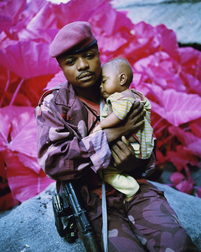Richard Mosse Madonna and Child, North Kivu, Eastern Congo, 2012 Digital C print, 35 x 28 inches © copyright Richard Mosse