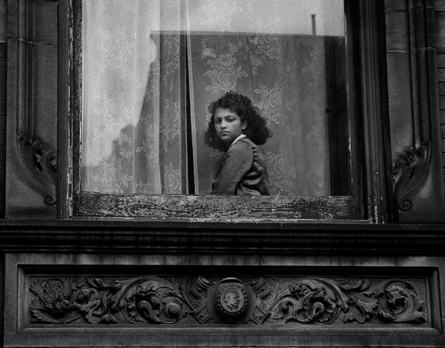 Harold Feinstein - Girl in Harlem Window, New York, 1948 -© copyright Harold Feinstein