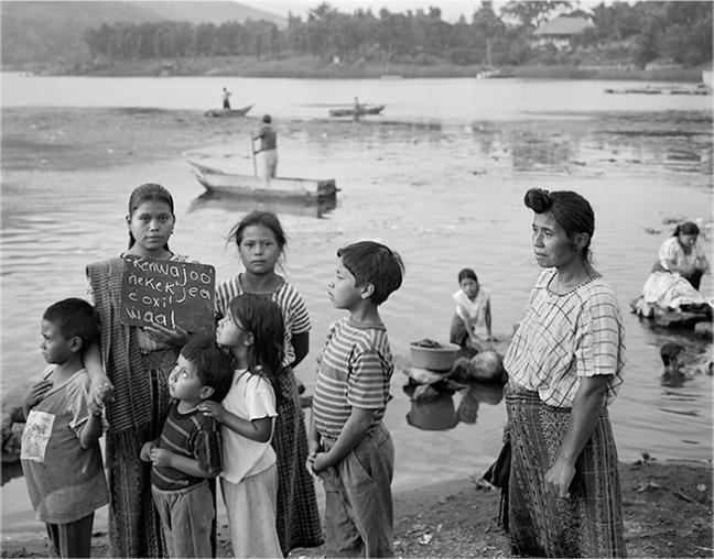 "Martin Weber - ""to have three children"", Santiago de Atitlan, Guatemala - From the series ""A Map of Latin American Dream"", 1992-2013 - © Copyright Martin Weber"
