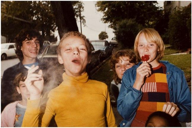 Mark Cohen - Boy in Yellow Shirt Smoking, 1977 - © copyright Mark Cohen