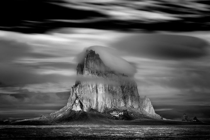Mitch Dobrowner - Shiprock Storm, Navajo Nation, New Mexico, 2008 - © copyright Mitch Dobrowner