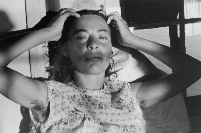 Pirkle Jones - Portrait of Woman, Gate Five, 1970
