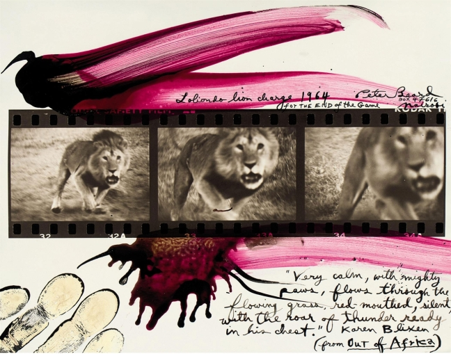 Peter Beard, Lolindo Lion Charge, 1964 - © Peter Beard