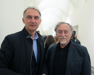 Enrico Stefanelli, direttore artistico del PhotoluxFestival, con Boris Mikhailov