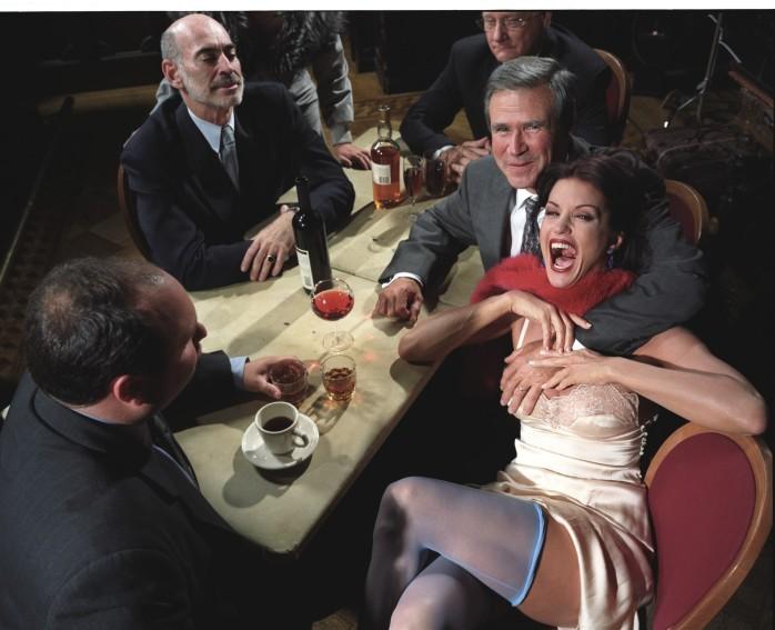 Larry Fink, Homage to George Grosz, 2001 - © Larry Fink