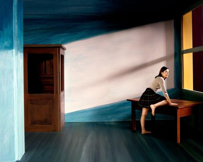 """Clark et Pougnaud, Caroline ,2005, from the series """"Tribute to Edward Hopper"""" - © Clark et Pougnaud"""