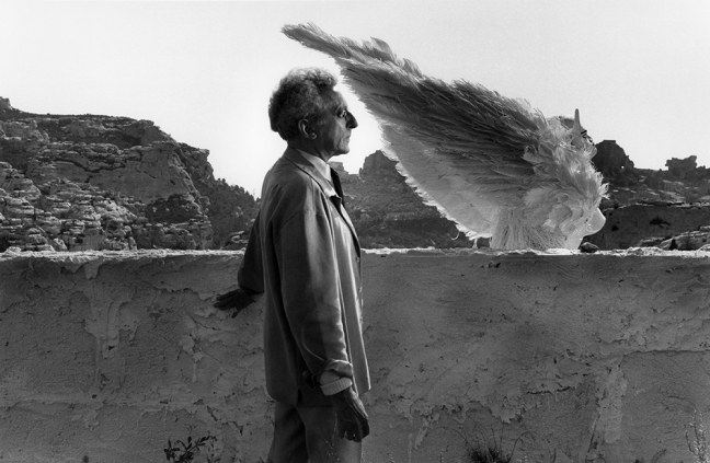 CLERGUE, LUCIEN (1934-2014) Jean Cocteau and Sphinx, Testament d'Orphee, 1959